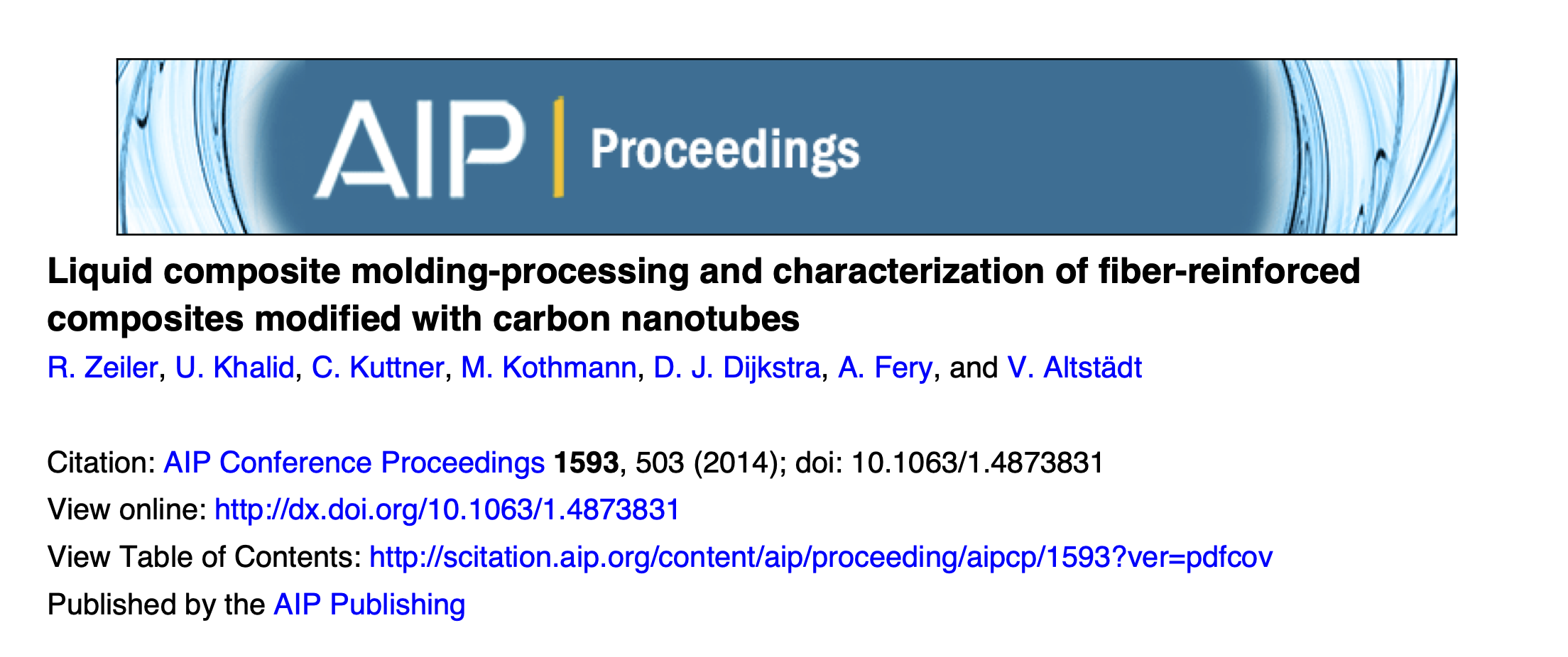Liquid Composite Molding-Processing and Characterization of Fiber-Reinforced Composites Modified with Carbon Nanotubes