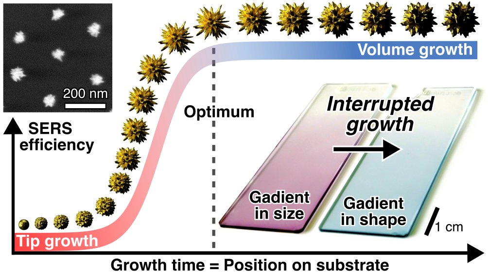 Plasmonic Gradient Arrays for Rapid Screening of SERS Efficiency: Particle Libraries of Gold Nanostars for Chemical Sensing